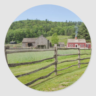 USA, New York, Cooperstown, Farmers' Museum Round Sticker