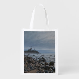 USA, New York, East Hampton. Montauk Point Reusable Grocery Bag