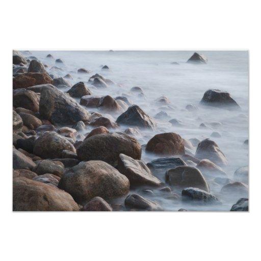 USA, New York, East Hampton. Ocean surf at Photographic Print