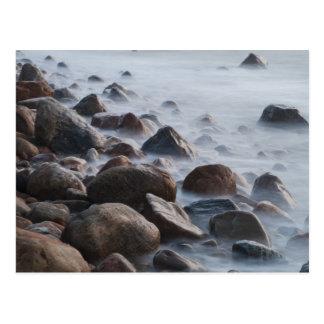 USA, New York, East Hampton. Ocean surf at Postcard