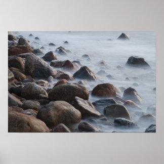 USA, New York, East Hampton. Ocean surf at Poster