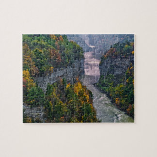 USA, New York, Letchworth State Park. River and Jigsaw Puzzle