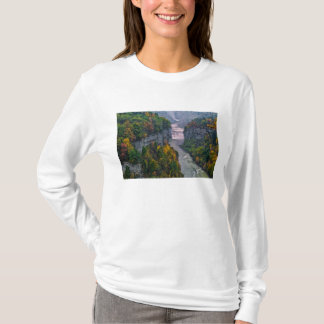 USA, New York, Letchworth State Park. River and T-Shirt
