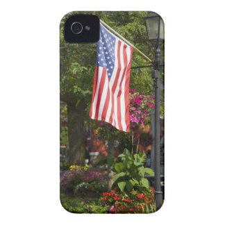 USA, New York, Lewiston. American flag attached Case-Mate iPhone 4 Cases