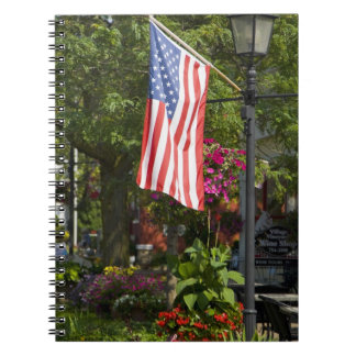 USA, New York, Lewiston. American flag attached Notebooks