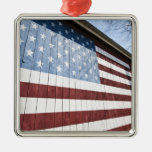 USA, New York, Long Island, The Hamptons. Silver-Colored Square Decoration