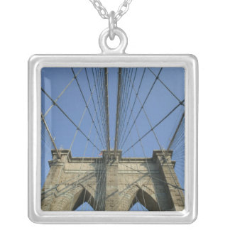 USA, New York, New York City, Brooklyn: 2 Square Pendant Necklace