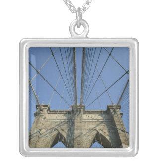 USA, New York, New York City, Brooklyn: 2 Square Pendant Necklace