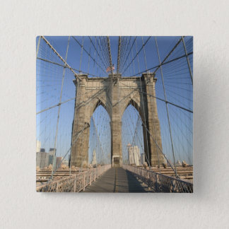 USA, New York, New York City, Brooklyn: 3 15 Cm Square Badge