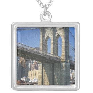 USA, New York, New York City. Brooklyn Bridge Personalized Necklace