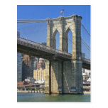 USA, New York, New York City. Brooklyn Bridge Postcard