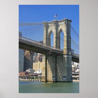 USA, New York, New York City. Brooklyn Bridge Poster