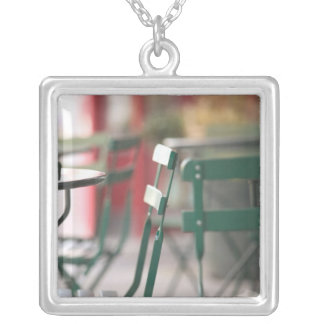 USA, New York, New York City, Brooklyn: Cobble Silver Plated Necklace