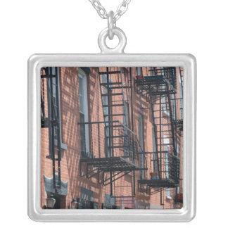 USA, New York, New York City, Brooklyn: Cobble Square Pendant Necklace
