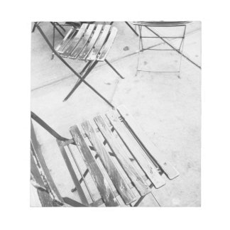 USA, NEW YORK: New York City Cafe Chairs, Notepad