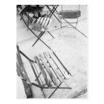 USA, NEW YORK: New York City Cafe Chairs, Postcard