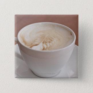 USA, New York, New York City, Cappuccino 15 Cm Square Badge