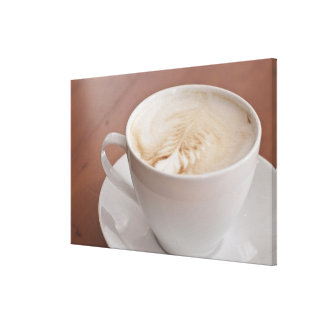 USA, New York, New York City, Cappuccino Canvas Print
