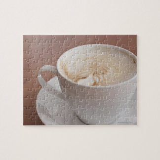 USA, New York, New York City, Cappuccino Jigsaw Puzzle