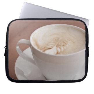 USA, New York, New York City, Cappuccino Laptop Sleeve