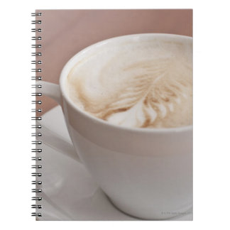 USA, New York, New York City, Cappuccino Notebook