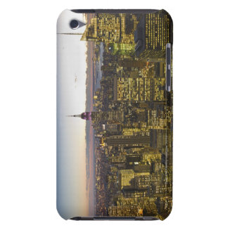 USA, New York, New York City, Cityscape at dusk 2 Barely There iPod Covers