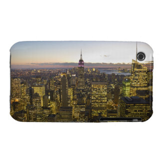 USA, New York, New York City, Cityscape at dusk 2 iPhone 3 Cover