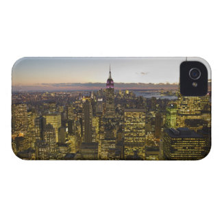 USA, New York, New York City, Cityscape at dusk 2 iPhone 4 Covers