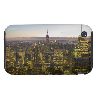 USA, New York, New York City, Cityscape at dusk 2 Tough iPhone 3 Cases