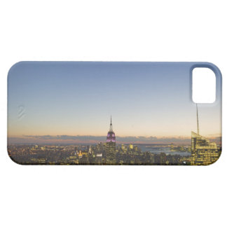 USA, New York, New York City, Cityscape at dusk iPhone 5 Cases