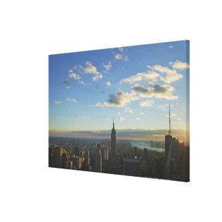 USA, New York, New York City, Cityscape at Stretched Canvas Print