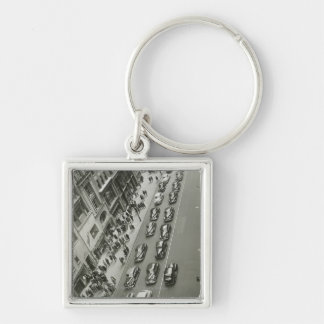 USA New York New York City elevated view Silver-Colored Square Key Ring