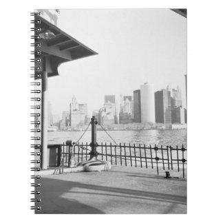 USA, NEW YORK: New York City Lower Manhattan Spiral Notebook