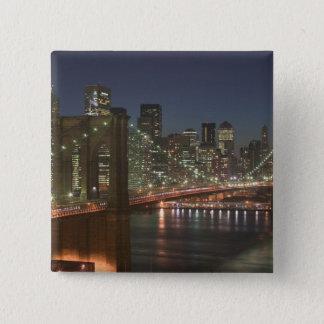 USA, New York, New York City, Manhattan: 10 15 Cm Square Badge