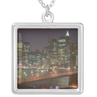 USA, New York, New York City, Manhattan: 11 Silver Plated Necklace