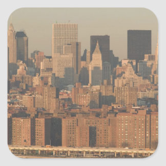 USA, New York, New York City, Manhattan: 12 Square Sticker