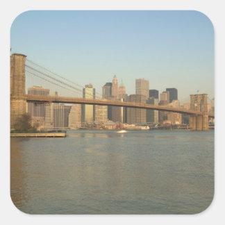 USA, New York, New York City, Manhattan: 13 Square Sticker