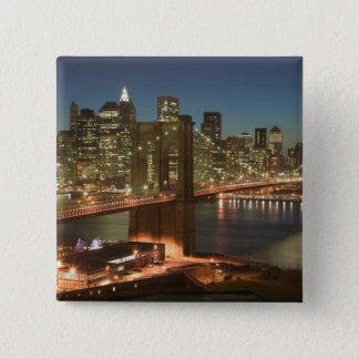 USA, New York, New York City, Manhattan: 15 Cm Square Badge