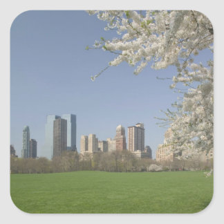 USA, New York, New York City, Manhattan: 19 Square Sticker