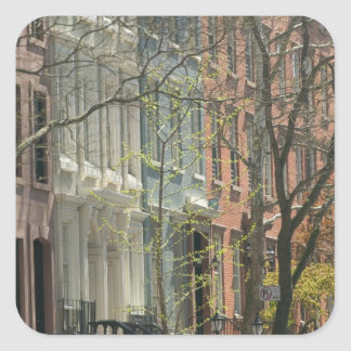 USA, New York, New York City, Manhattan: 20 Square Sticker