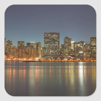 USA, New York, New York City, Manhattan: 24 Square Sticker