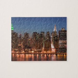 USA, New York, New York City, Manhattan: Aerial Jigsaw Puzzle