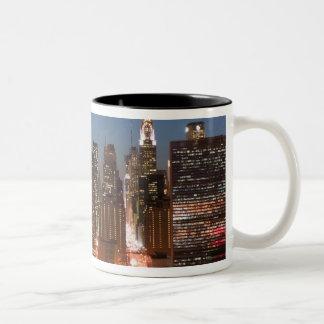 USA, New York, New York City, Manhattan: Aerial Two-Tone Coffee Mug