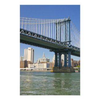 USA, New York, New York City. Manhattan Bridge Photo Print