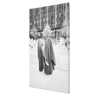 USA, NEW YORK: New York City Nuns Watching NYC Canvas Print