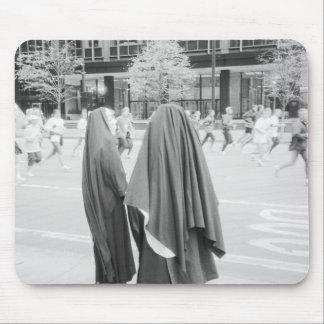 USA, NEW YORK: New York City Nuns Watching NYC Mouse Pad
