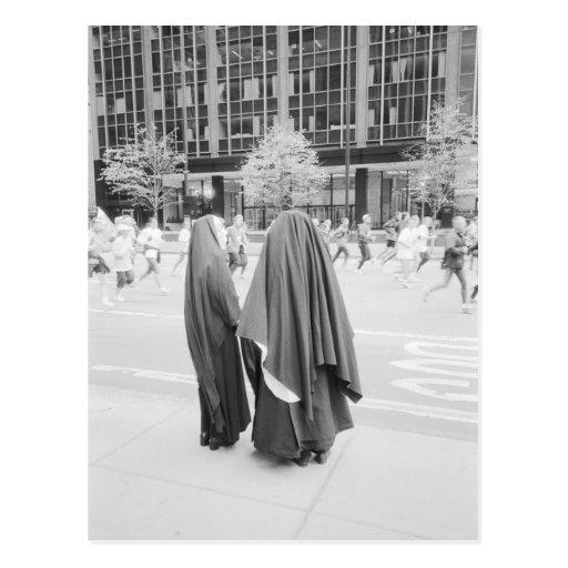 USA, NEW YORK: New York City Nuns Watching NYC Post Card