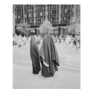 USA, NEW YORK: New York City Nuns Watching NYC Poster