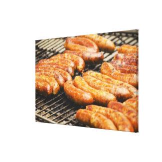 USA, New York, New York City, Sausages on Canvas Print