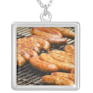 USA, New York, New York City, Sausages on Silver Plated Necklace